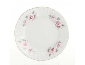Набор тарелок Bernadotte Серая роза золото 25 см(6 шт)