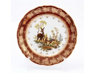 Набор тарелок Queen's Crown Охота красная 25 см