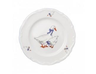 Набор плоских тарелок Repast 25 см Гуси (6 шт)