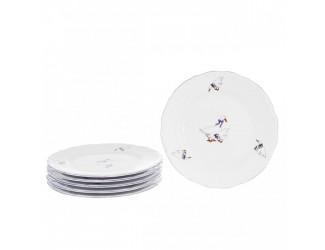 Набор плоских тарелок Repast 21 см Гуси (6 шт)