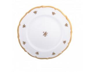 Набор тарелок Queen's Crown Золотая роза 25 см (6шт)