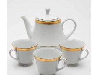 Кофейный сервиз Noritake Signature gold на 12 персон 27 предметов
