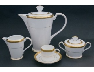 Кофейный сервиз Noritake Chatelaine gold 12 персон 39 предметов