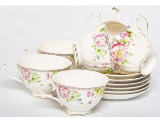 Набор чайных пар на 6 персон 12 предметов Balsford Мэридит 196-42002