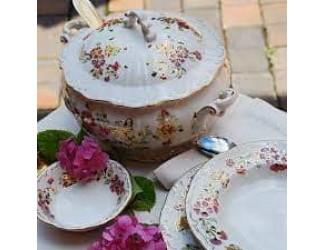 Десертная тарелка 17см Zsolnay Бабочка, ручная работа 9335/026