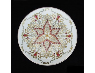 Декоративная тарелка 40,5см Zsolnay ручная работа 9970/7129