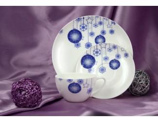 Подарочный набор Акку Новый год (синий) на 1 персону 3 предмета 7304А