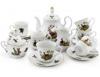 Сервиз чайный 27 предметов 12 персон Leander Мэри-Энн Охота  декор 0363