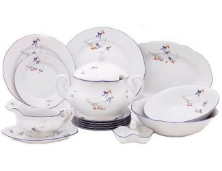 Сервиз столовый 25 предметов 6 персон Leander Мэри-Энн Гуси 03162011-0807