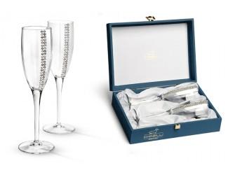 Набор бокалов для шампанского 2шт Chinelli (Gamma) с кристаллами Swarovski
