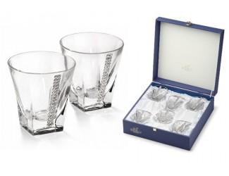 Набор бокалов для виски 6шт Chinelli (Gamma) Регина с кристаллами Swarovski