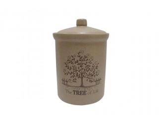 Банка для сыпучих продуктов 16см Terracotta Дерево жизни