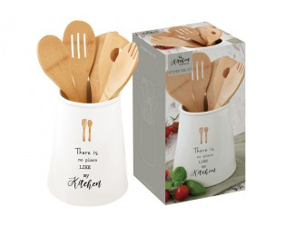 Банка-подставка с кухонными инструментами (5 предметов) Kitchen Elements Easy Life (R2S)