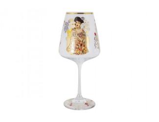Бокал для вина 500мл Адель (Г.Климт) в подарочной упаковке.