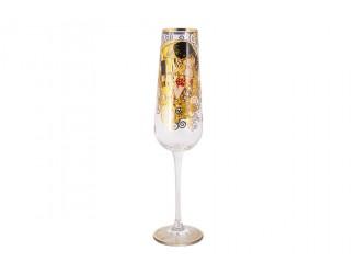 Бокал для шампанского 220мл Carmani Поцелуй(Г. Климпт)
