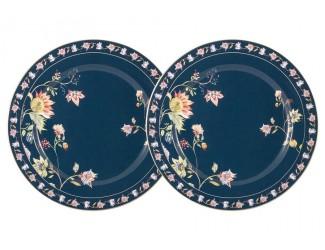Набор из 2-х закусочных тарелок 20,5см Anna Lafarg Primavera Флора синяя