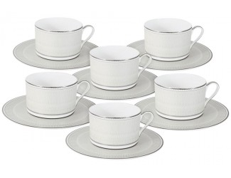 Набор чайных пар на 6 персон 12предметов 250мл предметов Naomi Жемчуг