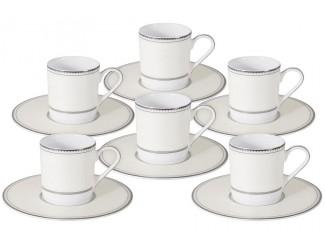 Набор кофейный пар на 6 персон 12 предметов 100мл предметов Naomi Жемчуг