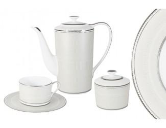 Чайный сервиз на 6 персон 14 предметов Naomi Жемчуг