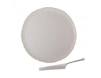 Набор для торта 2 предмета Bernadotte Бернадотт белый 311011