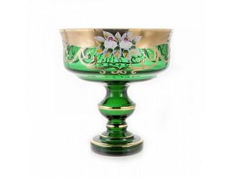 Ваза для конфет Union Glass 17см Лепка зеленая 6888