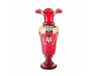 Ваза для цветов Union Glass 40см Лепка красная 83220