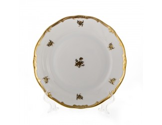 Набор тарелок Weimar Porzellan 26см 6 шт Роза золотая