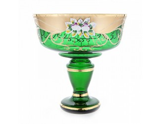 Ваза для фруктов Union Glass 24 см Лепка зеленая 6444