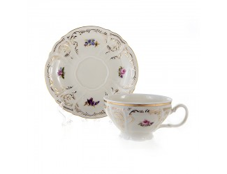 Набор для чая Bernadotte 205мл на 6 персон 12 предметов Бернадотт Ивори