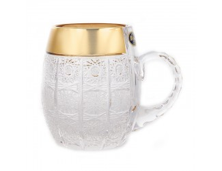 Кружка Mclassic 600мл Снежинка с золотом 23043