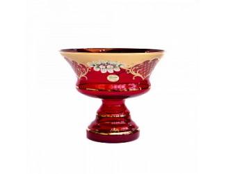 Ваза для фруктов Union Glass 26см Лепка красная 5365