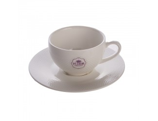 Кофейная пара (чашка+блюдце) Tudor 90 мл/в коробкеRoyal Sutton