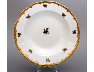 Набор глубоких тарелок Weimar Porzellan 22см 6 шт Роза золотая