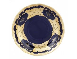 Блюдце Weimar Porzellan 13см Кленовый лист синий