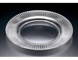 Блюдо 31см Даймонд Файер стекло Soga Glass A1494W