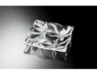 Блюдо 29*29см АНГЕЛИНА матовое стекло Soga Glass A4021X