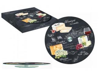 Блюдо стеклянное для сыра 32см (вращающееся) Easy Life (R2S) Мир сыров