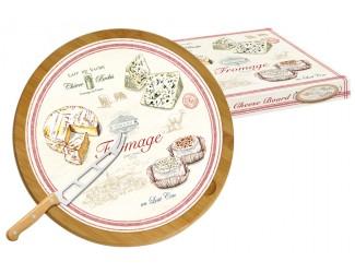Блюдо для сыра 32см (вращающееся) Easy Life (R2S) + нож FROMAGE в подарочной упаковке.