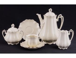 Сервиз чайный Leander Виктория мокко 15 предметов на 6 персон