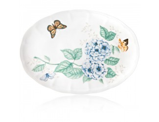 Блюдо овальное Lenox Бабочки на лугу 40,5см