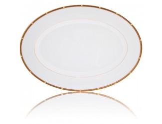 Блюдо овальное Noritake Рочель золотой кант 31см