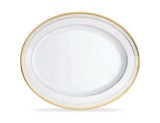 Блюдо овальное Noritake Хэмпшир золотой кант 35см