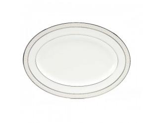 Блюдо овальное Noritake Монтвейл, платиновый кант 31см