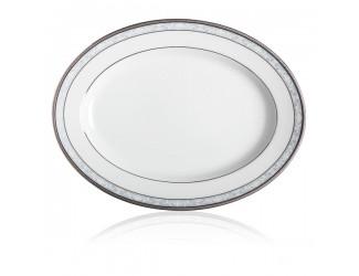Блюдо овальное Noritake Хэмпшир платиновый кант 35см