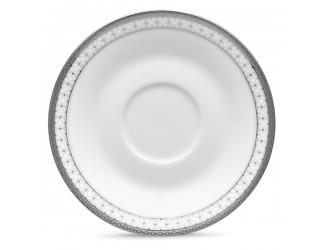 Блюдце для чашки чайной Noritake Рочестер платиновый кант 15см