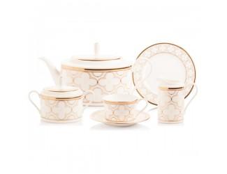 Сервиз чайный Noritake Трефолио золотой кант на 6 персон 20 предметов