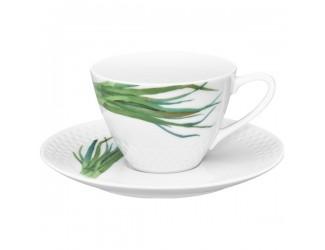 Чайная пара Noritake Овощной букет Зелёный лук 210мл