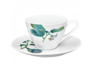 Чайная пара Noritake Овощной букет Баклажан 210мл