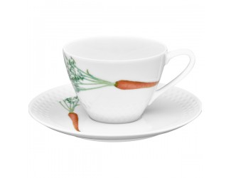 Чайная пара Noritake Овощной букет Морковка 210мл
