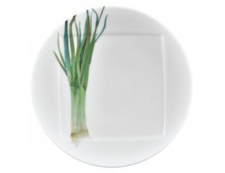 Тарелка десертная Noritake Овощной букет Зелёный лук 16см